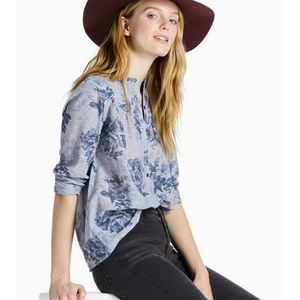 Lucky🍀Brand Floral Chambray Shirt